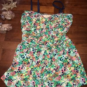 Rose Marie Reid bathing suit skirt attached floral